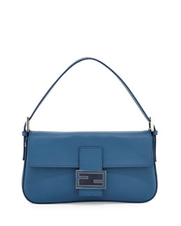 Fendi Leather Baguette with Interchangeable Straps, Cobalt