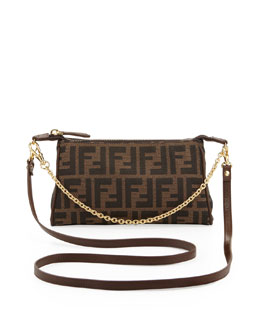 Fendi Mini Zucca Chain Crossbody Bag, Brown