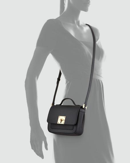 3ef4f411fc39fa Fendi Mini Borsa Leather Crossbody Bag, Black