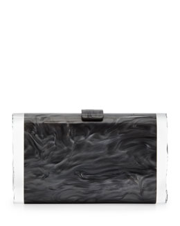 Edie Parker Lara Acrylic Ice Clutch Bag, Steel