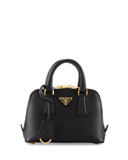 Prada Saffiano Mini Promenade Crossbody Bag, Black (Nero)