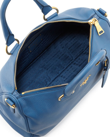 Daino Zip-Top Tote Bag, Blue (Cobalto)