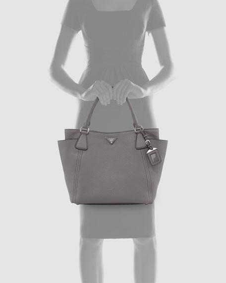 Daino Side-Pocket Tote Bag, Gray (Marmo)