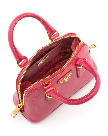 prada mini promenade - Prada Mini Saffiano Promenade Bag, Pink (Peonia)