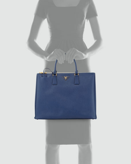 Saffiano Large Executive Tote Bag, Blue (Bluette)