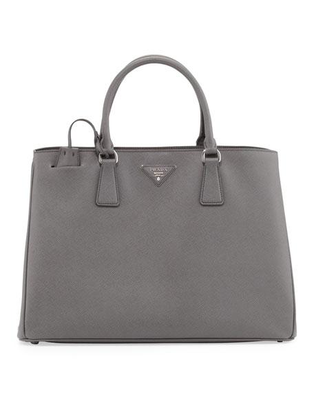 Prada Saffiano Gardener's Tote Bag, Gray (Marmo)