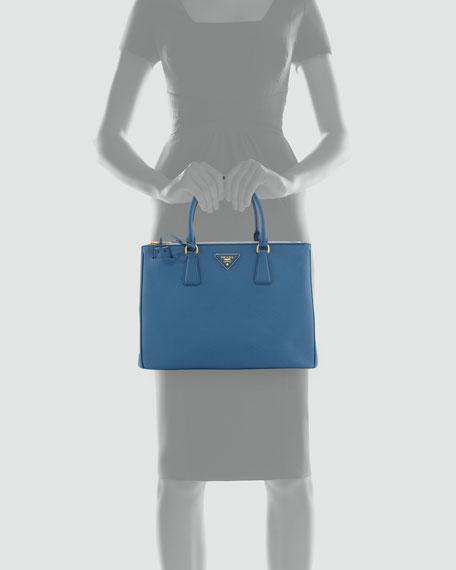 Saffiano Double-Zip Executive Tote Bag, Cobalt (Cobalto)