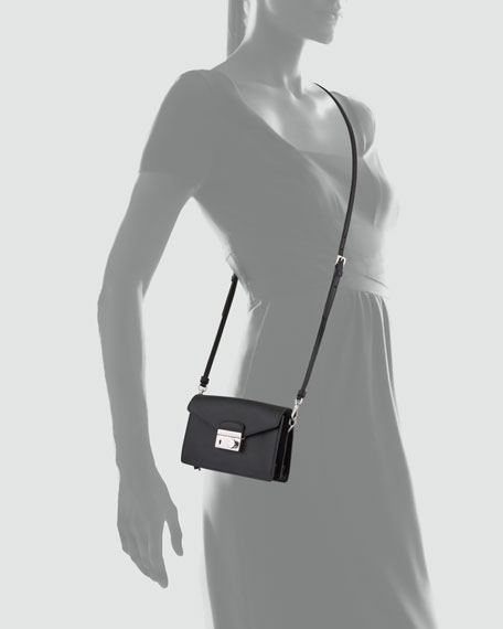956ae05d83d7 Prada Saffiano Mini Sound Bag, Black (Nero)