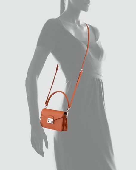 Saffiano Mini Sound Bag, Orange (Papaya)