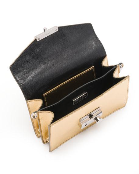 Saffiano Mini Sound Bag, Golden (Platino)