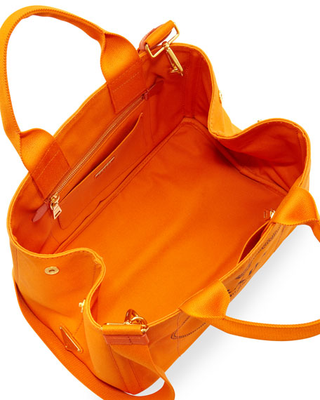 Canvas Logo Tote with Strap, (Orange) Papaya