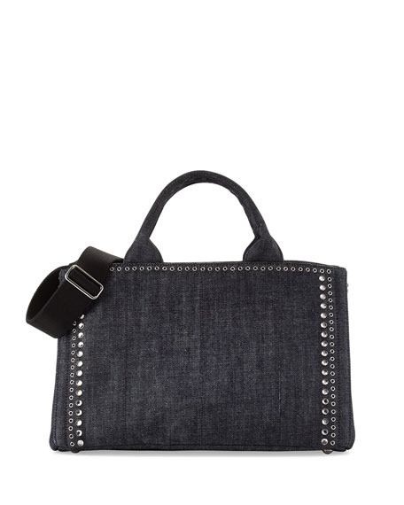 Denim Vintage Shopper Tote Bag, Blue (Bluette)