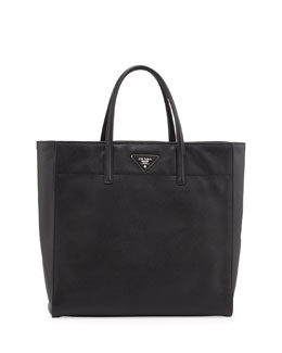 Prada Saffiano Magazine Tote Bag, Black (Nero)