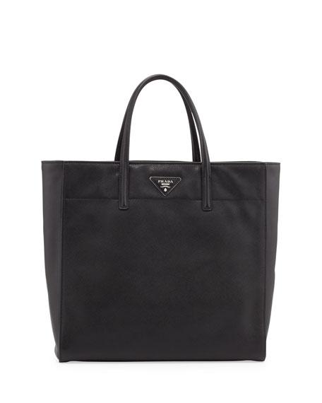 Saffiano Magazine Tote Bag, Black (Nero)