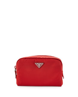 Prada Vela Square Cosmetic Bag, Red (Rosso)