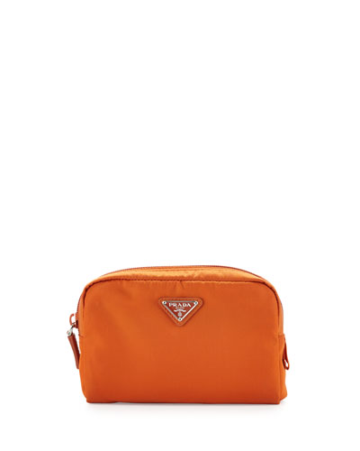 Prada Vela Square Cosmetic Bag Orange Papaya