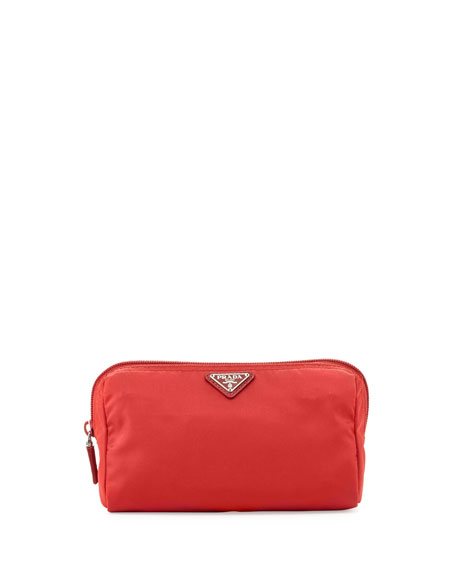 PradaVela Trapezoid Cosmetic Case, Red (Rosso)