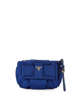 Tessuto Bow Wristlet, Blue (Bluette)