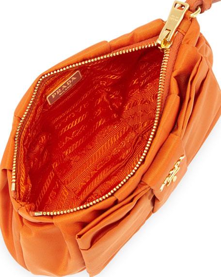 prada handbag on sale - Prada Tessuto Bow Wristlet, Orange (Papaya)