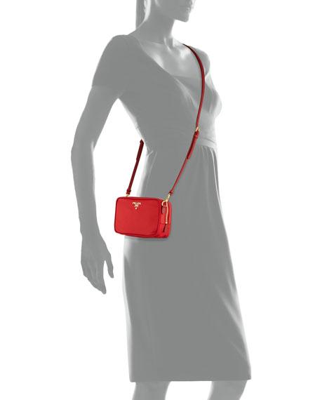 Tessuto Small Crossbody Bag, Red (Rosso)