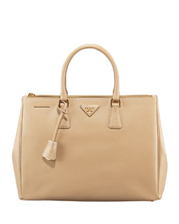 Prada Saffiano Executive Tote Bag, Beige (Sabbia)