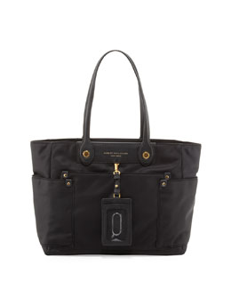 MARC by Marc Jacobs Preppy Nylon Clara Zip Tote Bag, Black