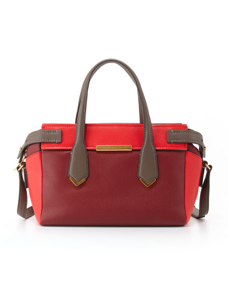 Hail to the Queen Liz Colorblock Satchel Bag, Red Multi