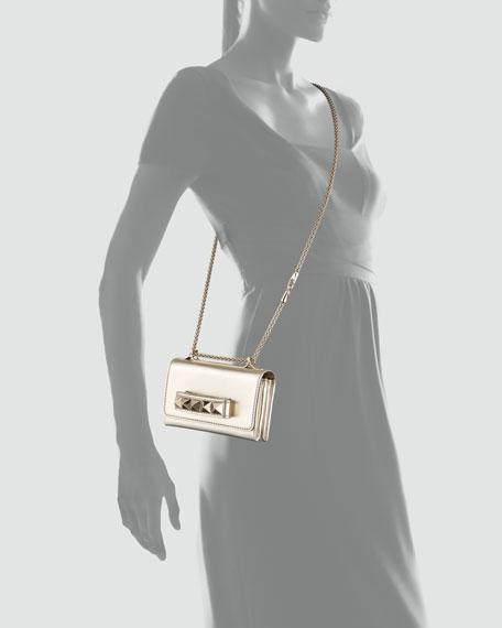 Va Va Voom Metallic Mini Bag, Gold