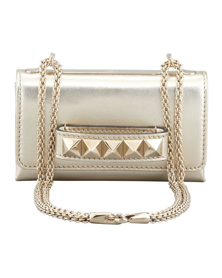 Va Va Voom Metallic Mini Bag, Gold