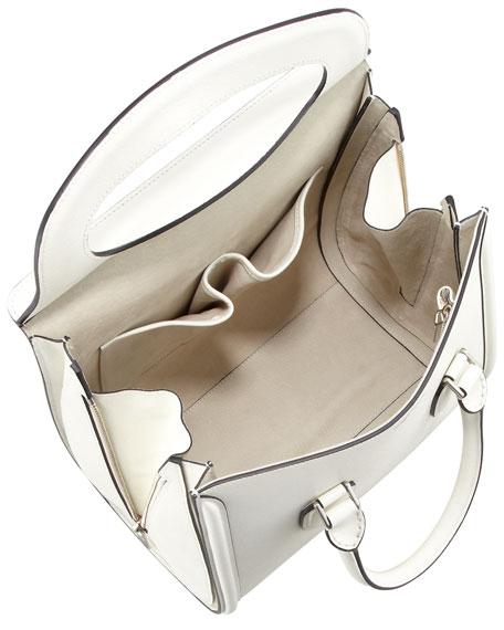 Heroine Flap-Top Tote Bag, Ivory