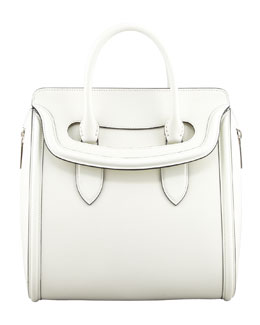 Alexander McQueen Heroine Medium Flap-Top Tote Bag, Ivory