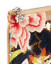 Floral-Print Skull Zip Pouch, Multicolor