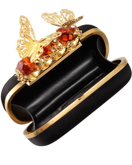 Butterfly Knuckle-Duster Box Clutch Bag