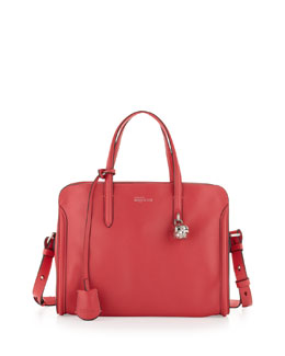 Alexander McQueen Small Padlock Zip-Around Tote Bag, Pink