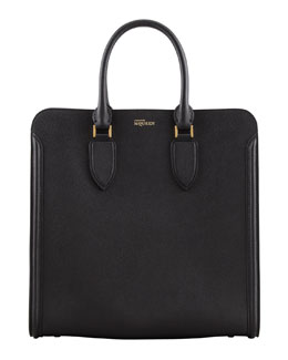 Alexander McQueen Heroine Leather Tote Bag, Black