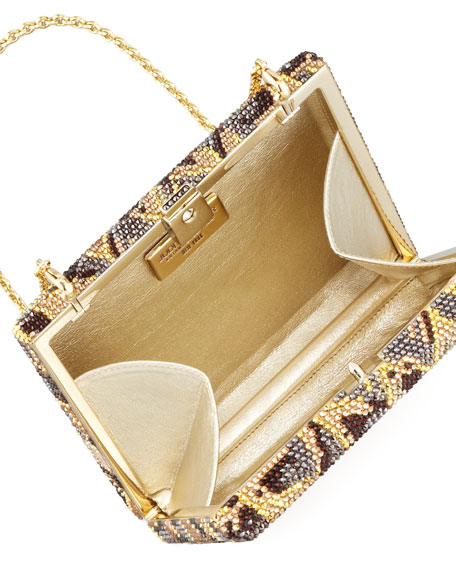 Agave Cigar Box Clutch Bag, Champagne Multi