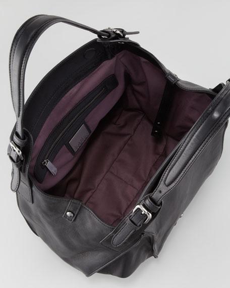 Valerie Flap-Front Shoulder Bag, Black