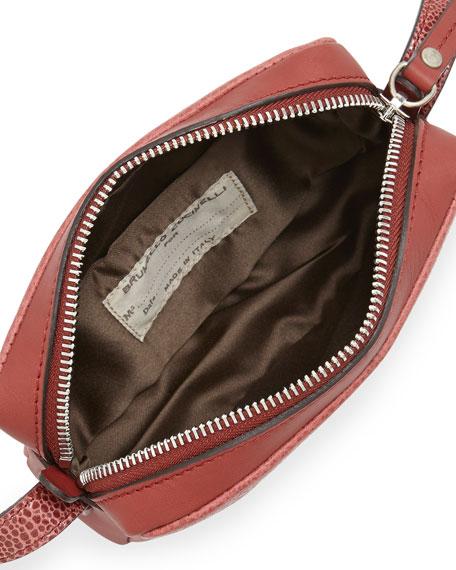 Mini Leather Crossbody Bag, Red
