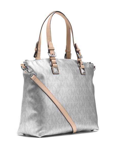 Jet Set Metallic Multifunction Satchel