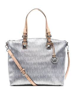 MICHAEL Michael Kors  Jet Set Metallic Multifunction Satchel