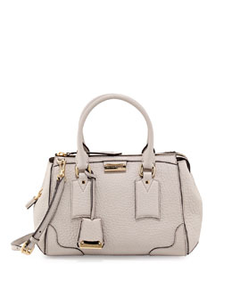 Burberry Padlock Satchel Bag, White