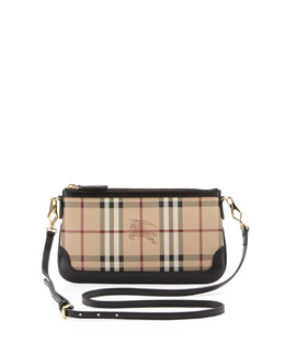 Burberry Check Crossbody Bag, Black