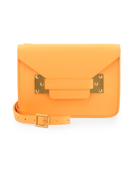 Mini Envelope Crossbody Bag, Tangerine
