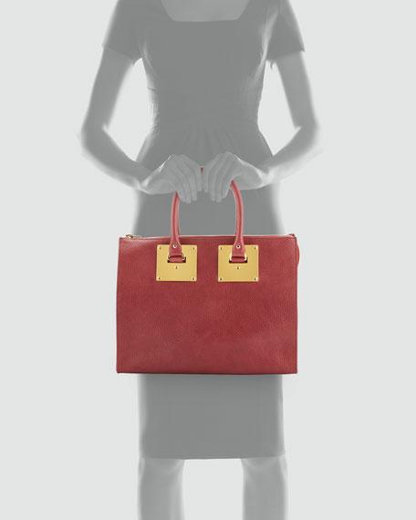 Stamped Zip-Top Bowling Bag, Pink