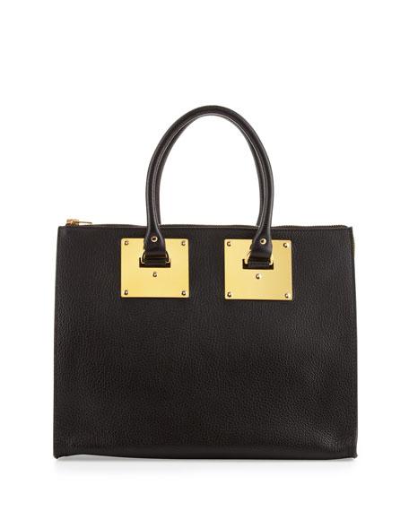 Stamped Zip-Top Bowling Bag, Black
