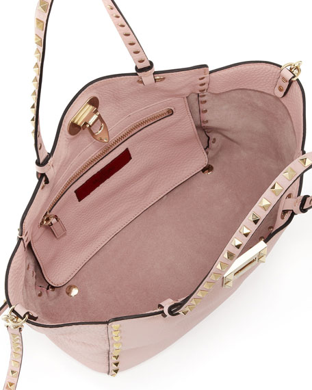 Rockstud Mini Tote Bag, Light Pink