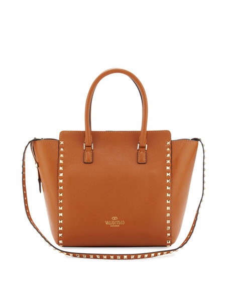 Rockstud Medium Square Shopper Tote Bag, Tan