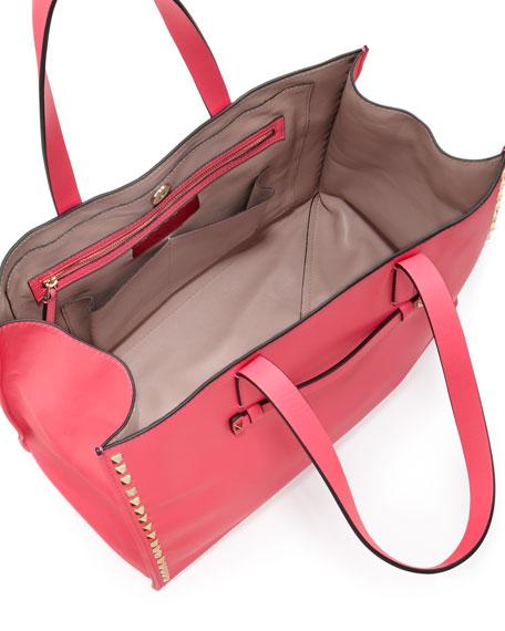 Valentino Rockstud Soft Square Tote Bag, Pink