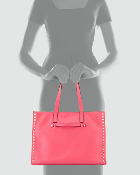 Rockstud Soft Square Tote Bag, Pink
