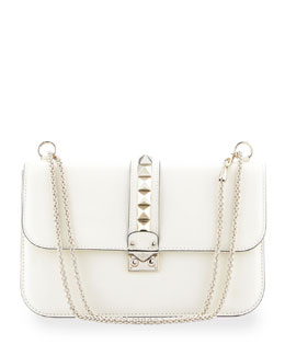 Valentino Rockstud Medium Flap Bag, Ivory